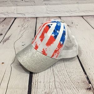 UEC Claire's Stars & Stripes snap hat 4th of july